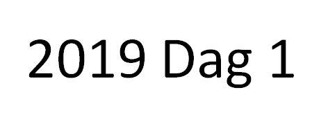 2019 dag 1